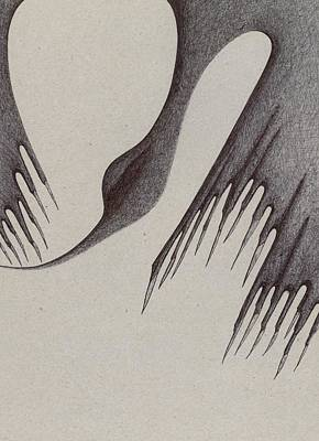 Drawing - Stalactites Overhead by Giuseppe Epifani