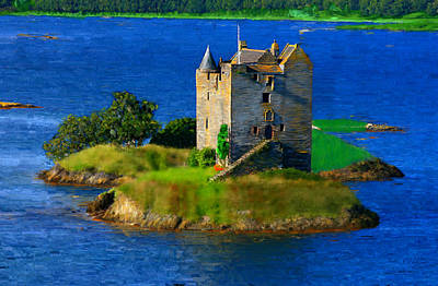Painting - Stalker Castle Scotland by Bruce Nutting