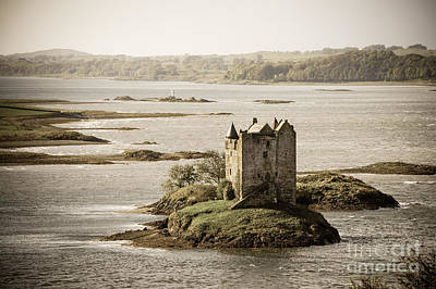 Castle Photograph - Stalker Castle Vintage by Jane Rix