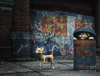 Fine Art Cat Digital Art - Stalker by Jutta Maria Pusl