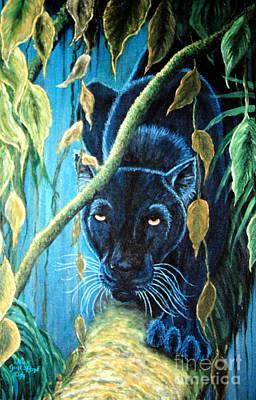Stalking Black Panther Original by Nick Gustafson