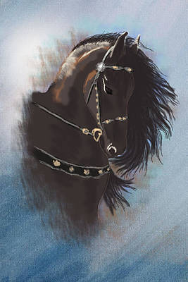 Stallion Portrait Original by Graphicsite Luzern
