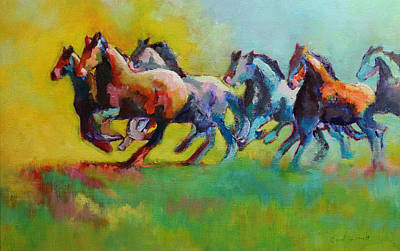 Painting - Stallions Running by Carol Jo Smidt