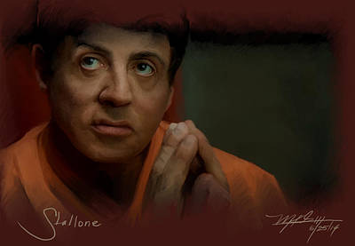 Stallone Art Print by Mark Gallegos