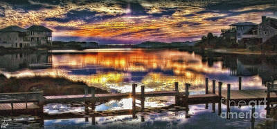 Photograph - Stallworth Lake Sunset by Walt Foegelle