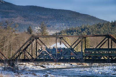 Photograph - Stam Train Crossing The Ellis River by Alana Ranney
