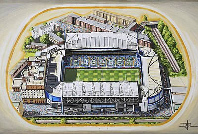 Sports Paintings - Stamford Bridge - Chelsea by D J Rogers