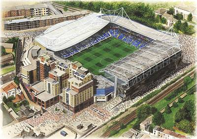 Sports Paintings - Stamford Bridge - Chelsea by Kevin Fletcher