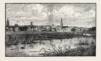 Parish Drawing - Stamford Is A Town And Civil Parish On The River Welland by English School