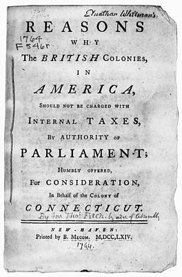 Reason Painting - Stamp Act Pamphlet, 1764 by Granger
