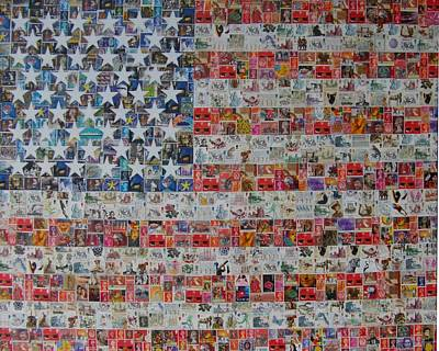 Stamps And Stripes Renegade Colony Original by Gary Hogben