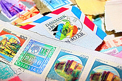 Mail Photograph - Stamps by Nikitta Noa