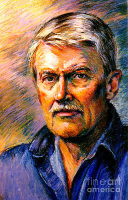 Painting - Stan Esson Self Portrait by Stan Esson
