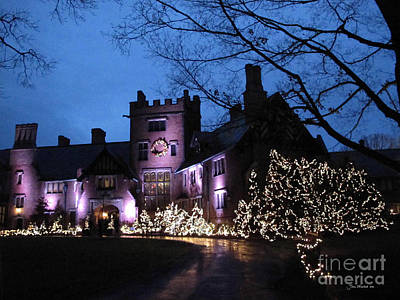 Stan Hywet Hall And Gardens Christmas  Art Print by Joan  Minchak