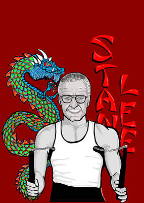 Stan Lee Art Print by Gary Niles