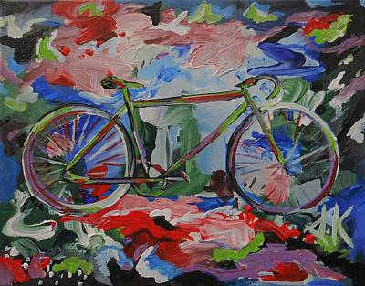 Cycle Painting - Stand Alone Bike by David Keenan