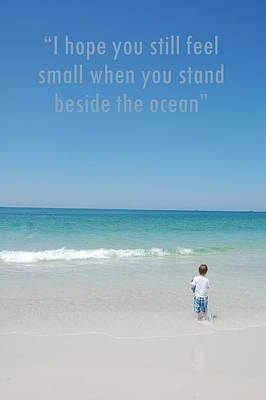 Stand Beside The Ocean Art Print by May Photography