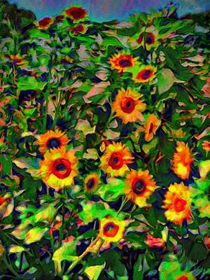 Painting - Stand Of Sunflowers - Vertical by Lyn Voytershark