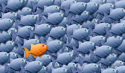 Stand Out From The Crowd Art Print by Stephen Kinsey