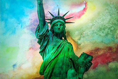 Statue Of Liberty Photograph - Stand Up For Your Dreams by Az Jackson
