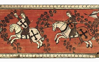 Caballero Photograph - Standard Bearers Knights. 13th C by Everett