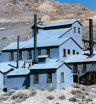 Old Buildings Digital Art - Standard Mill At Bodie by Barbara Snyder