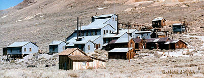 Ghost Town Digital Art - Standard Mill At Bodie Panorama by Barbara Snyder