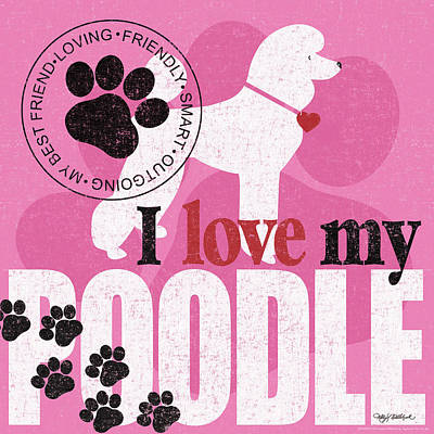 Poodle Wall Art - Painting - Standard Poodle by Kathy Middlebrook