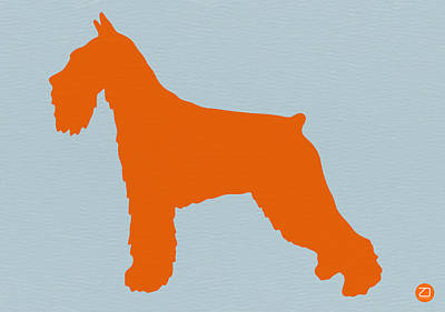Puppy Digital Art - Standard Schnauzer Orange by Naxart Studio