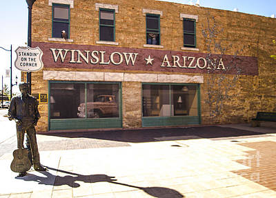 Jackson Browne Photograph - Standin On The Corner In Winslow Arizona by Deborah Smolinske