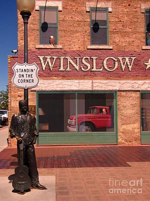 Jackson Browne Photograph - Standin On The Corner In Winslow Arizona by John Malone