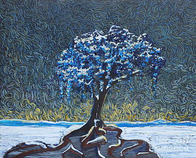 Painting - Standing Alone In The Snow by Stefan Duncan