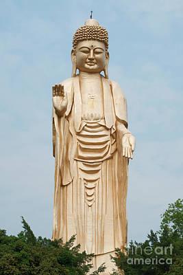 Photograph - Standing Buddha Statue by Yew Kwang