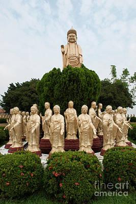 Photograph - Standing Buddha Statues by Yew Kwang