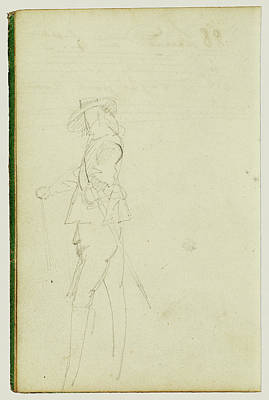 Cavaliers Drawing - Standing Cavalier Théodore Géricault, French by Litz Collection