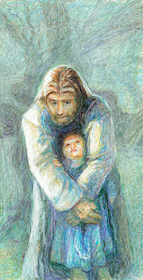 Standing Christ With Child  Original