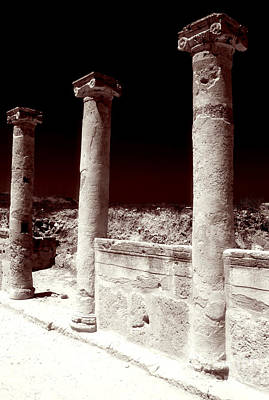 Cypriotic Photograph - Standing Columns by John Rizzuto