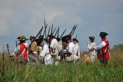 Revolutionary Wars Re-enactment Photograph - Standing Firm by William Coffey