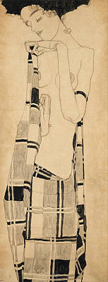 Printing Drawing - Standing Girl by Egon Schiele