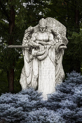 Archangel Photograph - Standing Guard by Tom Mc Nemar