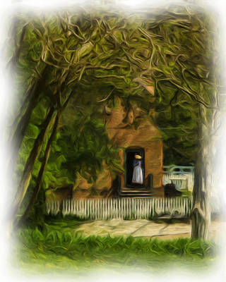 Standing In The Doorway Art Print