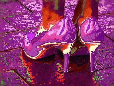 Standing In The Purple Rain Art Print