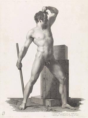 Standing Male Nude, Benoit Taurel Art Print