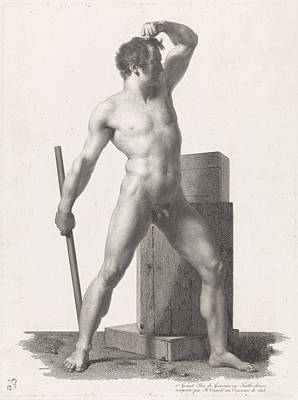 Proportions Drawing - Standing Male Nude, Benoit Taurel by Benoit Taurel