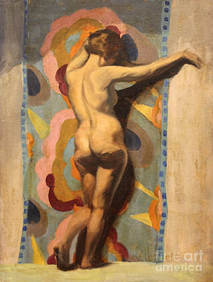 Painting - Standing Nude by Art By Tolpo Collection
