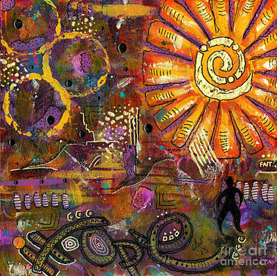 Mixed Media - Standing On Hope by Angela L Walker