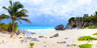Photograph - Standing On The Beach At Tulum by Mark E Tisdale