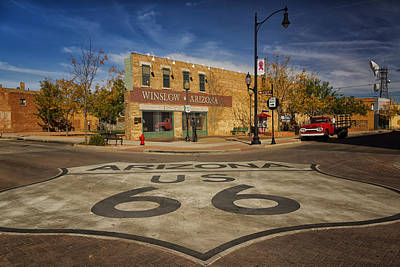 Standing On The Corner In Winslow Arizona Dsc08854 Art Print
