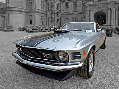 Ford Mustang Photograph - Standing Out From The Crowd - 1970 Mach1 Mustang by Gill Billington