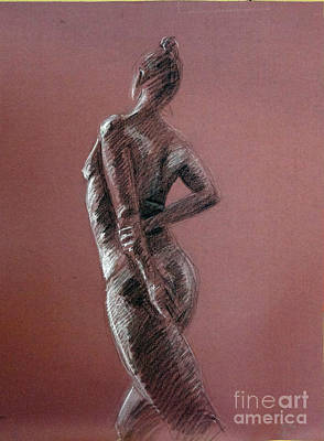 Drawing - Standing Repose by Barbara Oertli
